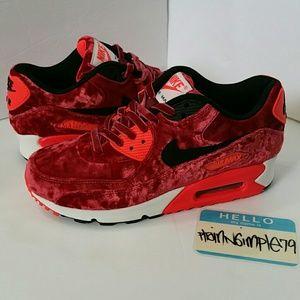 6737e1afd2 Nike Shoes | Womens Air Max 90 Anniversary Red Velvet | Poshmark